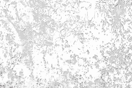 Scratch cracked paint vector black and white background. Grunge texture  template for overlay artwork.