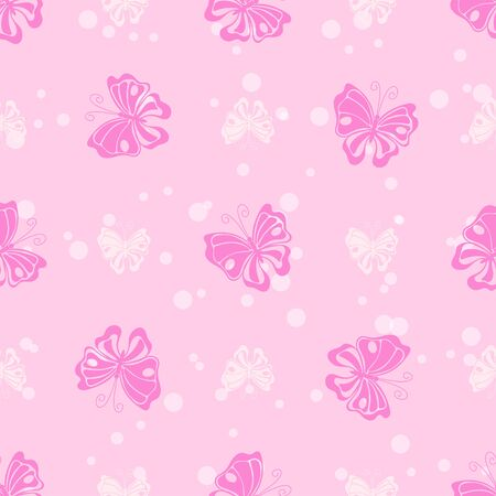 White ink drops and pink butterfly vector seamless pattern 版權商用圖片 - 136679368