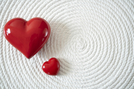 Red Candy Heart on White Background