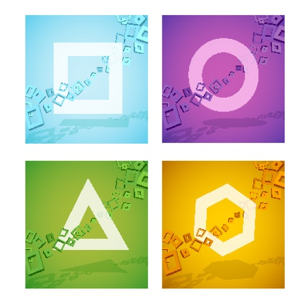 Geometric colorful shapes Stock Vector - 17660503