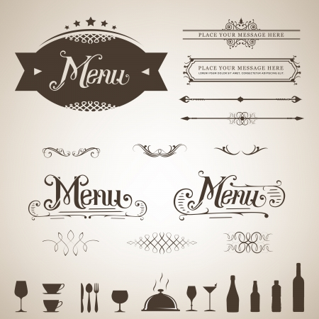 Menu design element set  Illustration