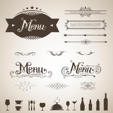 page divider: Menu design element set  Illustration