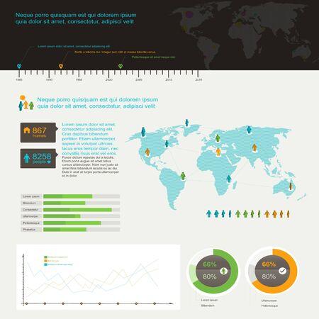 Set elements of infographics Stock Vector - 17660515