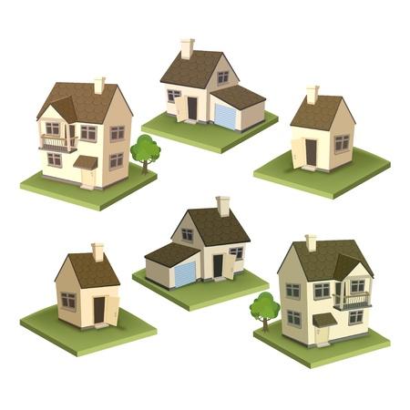 solar panel roof: Family houses