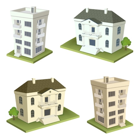 Family houses 2 Stock Vector - 17660506