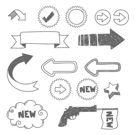 arrows and hand drawn elements  Stock Vector - 17660511