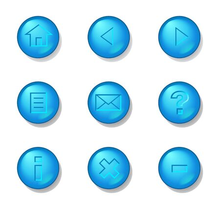 Useful buttons with aqua look