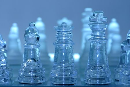 chessman: Crystal Chessman ready for battle