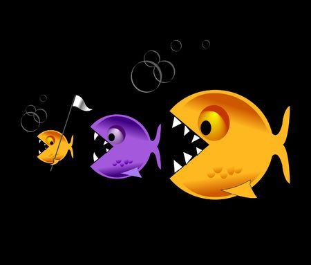 business survival: Big fish eat little fish