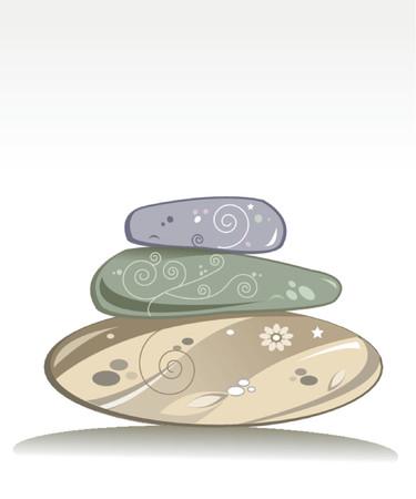 wellness stenen Stock Illustratie