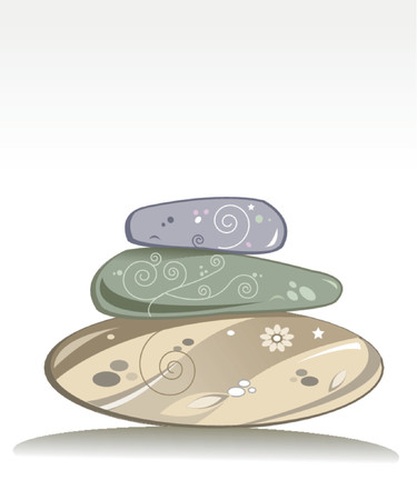 wellness stones Stock Vector - 537816