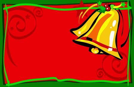 Illustrated christmas bells photo