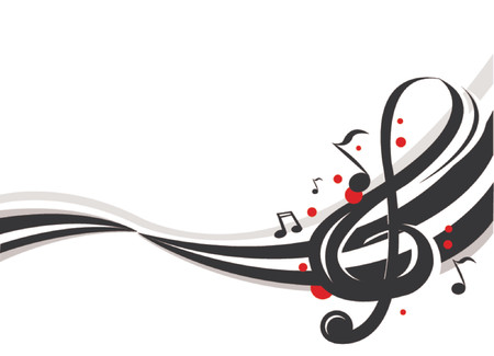 abstract music: abstracte muziek noten