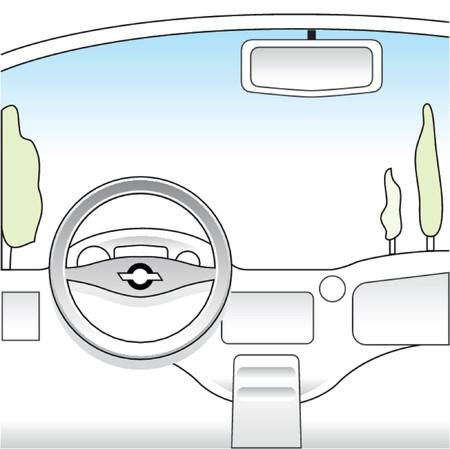 car dashboard: car interior