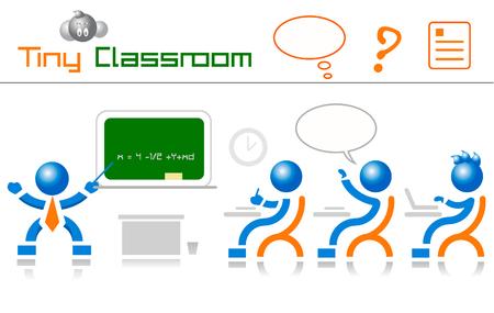werken klas en leraar Stock Illustratie