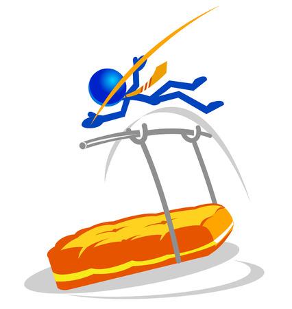 diminuto: Ilustraci�n de un peque�o empresario superar las dificultades. Se adapta a una gran cantidad de conceptos.