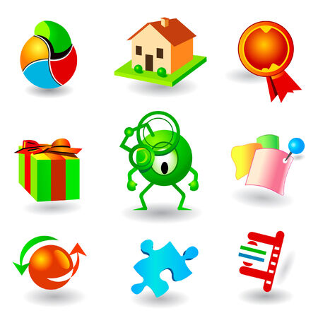 vector icon set Stock Vector - 2096508