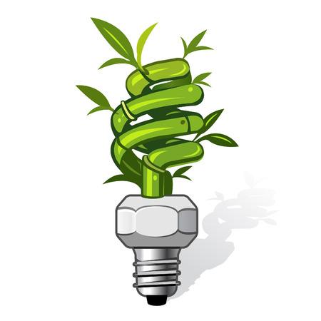kassen: vector illustratie van een ecologische lamp. Kan gebruikt worden voor eco gerelateerde concepten. PATH opgenomen