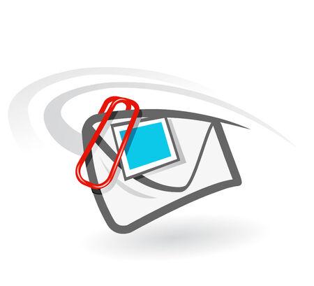 e-mail attachment vector icon Vector