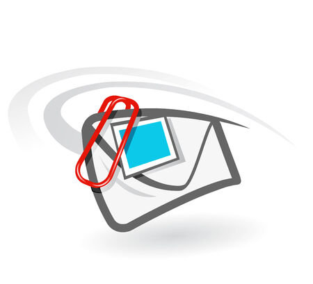 e-mail attachment vector icon