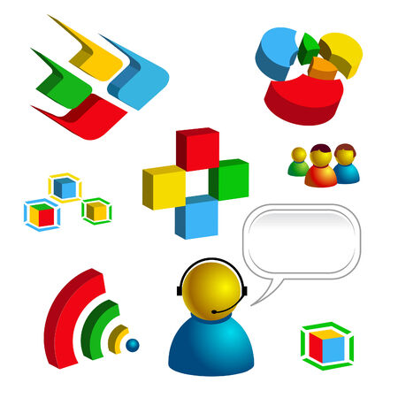 web and technology related vector isolated icons Иллюстрация