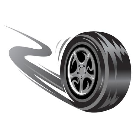 vector de las carreras de ruedas. Relacionados con la velocidad de la ilustración