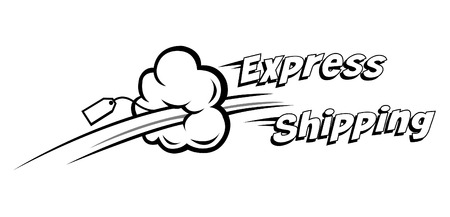 fast service: express shipping vector icon. Ideal for delivery and courier usage Illustration