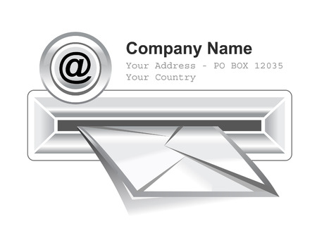 e-mail box vector pictogram op witte achtergrond