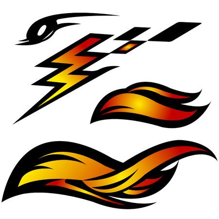Auto Moto ontwerp vector icons