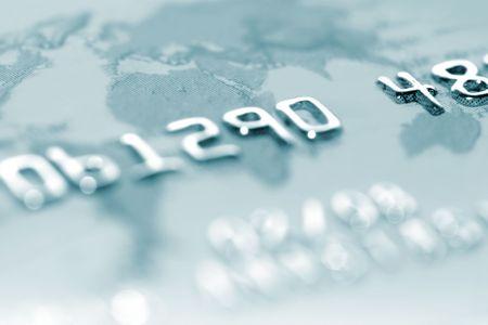 macro shoot  of a credit card. Stock Photo - 5379891