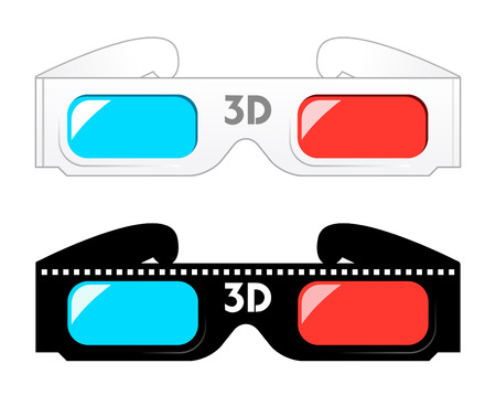 3d movie glasses Иллюстрация
