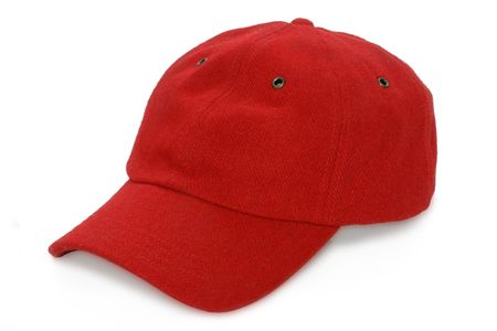 red baseball isolated hat on white background