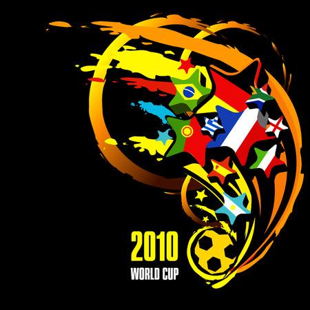 afbeelding van 2010 wereld cup Stock Illustratie