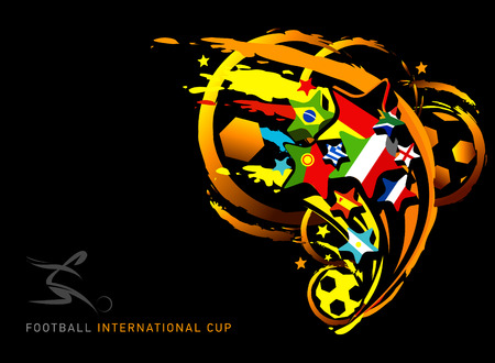 bandera de portugal: ilustraci�n vectorial abstracto para la Copa Mundial de f�tbol Vectores