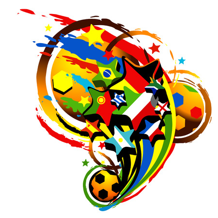 south africa flag: isolated abstract illustration for football world cup
