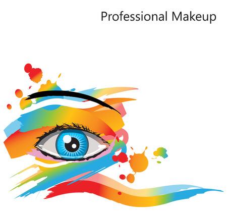 Abstracte make-up in de gaten. Voor de schoonheid, spa en Mode concepten