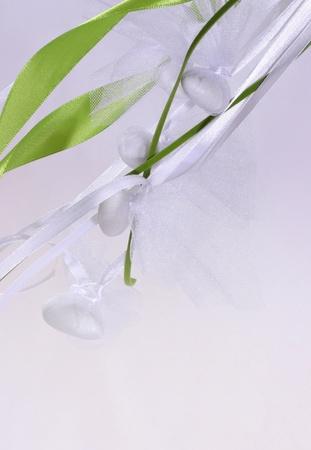 bonbonniere: wedding sugared almonds in light background Stock Photo
