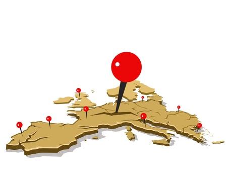 eurozone crisis illustration concept Stock Vector - 12044782