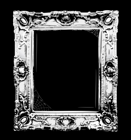 gothic: Spooky halloween retro blank frame