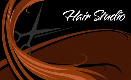 hair cut: hair studio business card