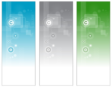 Abstract technology banners Vector