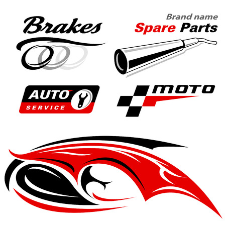 spare parts: auto moto vector icons