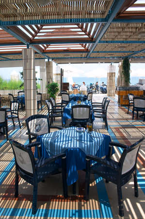 open air restaurant at seaside