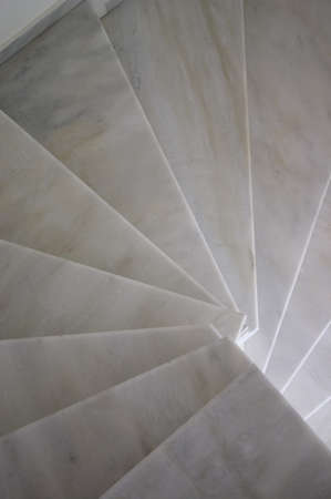 spiral stairs made from marble Stock Photo