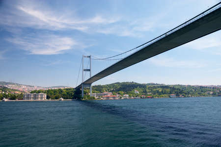 turkey istanbul: bridge over Bosporus strait between Europe and Asia