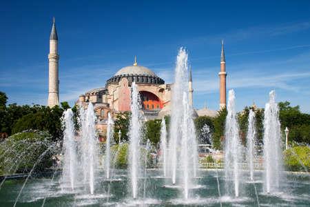 Hagia Sophia and fountain in Istanbul, Turkey