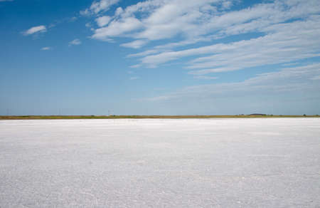 salina: saline under blue sky