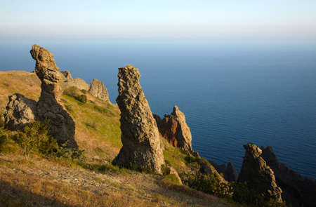 Rock formation near of the sea Stock Photo