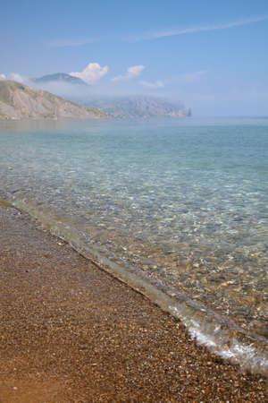 Small wave on the sea coast
