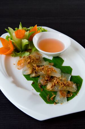 Vietnamese steamed shrimp dumpling